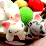 Gatitos japoneses de golosina hechos a mano 10