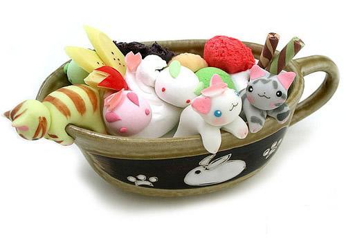 Gatitos japoneses de golosina hechos a mano Chuchelandia, el blog de las chuches y golosinas