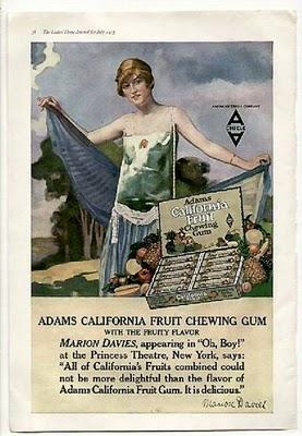 Adams chicle anuncio vintage Chuchelandia, el blog de las chuches y golosinas