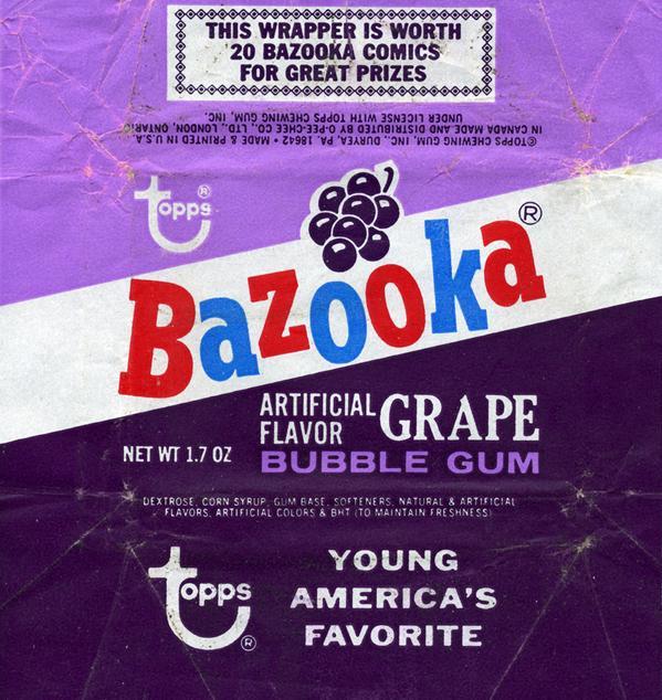 Bazooka chicle uva chuchelandia