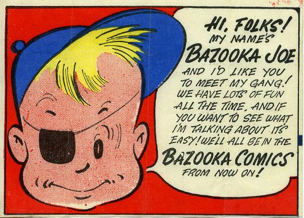Bazooka joe personaje original Chuchelandia, el blog de las chuches y golosinas