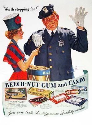 Beech chicle anuncio vintage Chuchelandia, el blog de las chuches y golosinas