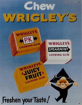 Wrigleys vintage ad,  el blog de las chuches y golosinas