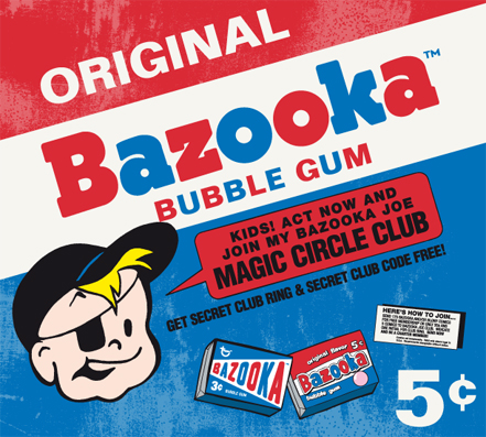 chicle bazooka joe original chuchelandia