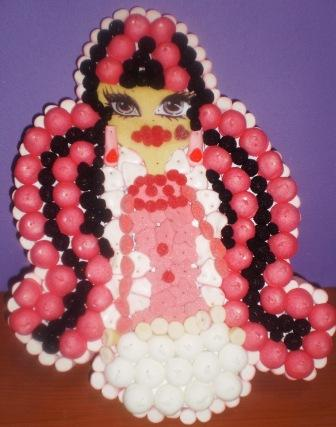 Tarta chuches Monster High. Chuchelandia, el blog de las chuches y golosinas